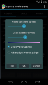 DIVA Voice Settings