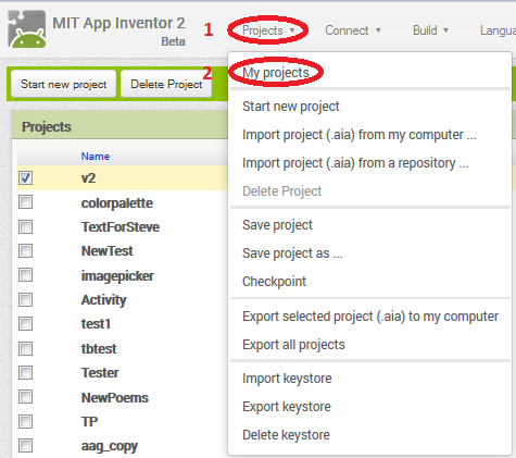 App Inventor User Interface